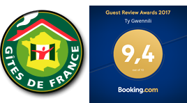 Gites de France logo Guest Review Awards 2017 Booking.com